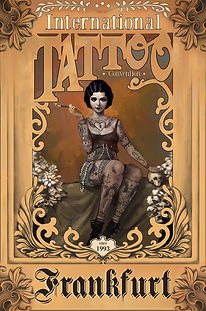 Affiche -Frankfurt Tattoo- designed by labeuse.ch