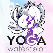 Logo -Yoga watercolor- designed by labeuse.ch