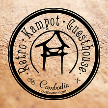Logo -Retro Kampot Guesthouse- designed by labeuse.ch