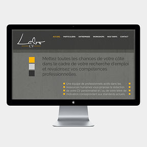 site web -Labo-CV- designed by labeuse.ch