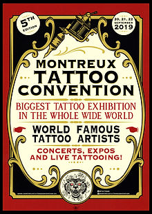 Affiche -Montreux Tattoo- designed by labeuse.ch