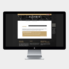 site web -Aleydis- designed by labeuse.ch