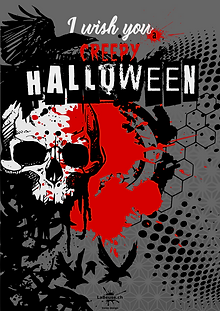 Affiche -Halloween- designed by labeuse.ch