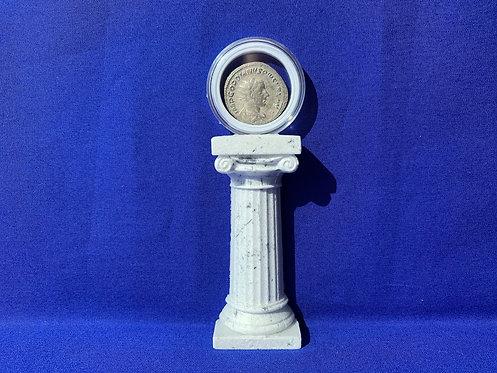Coin Display Half Column Flush to Wall Edition