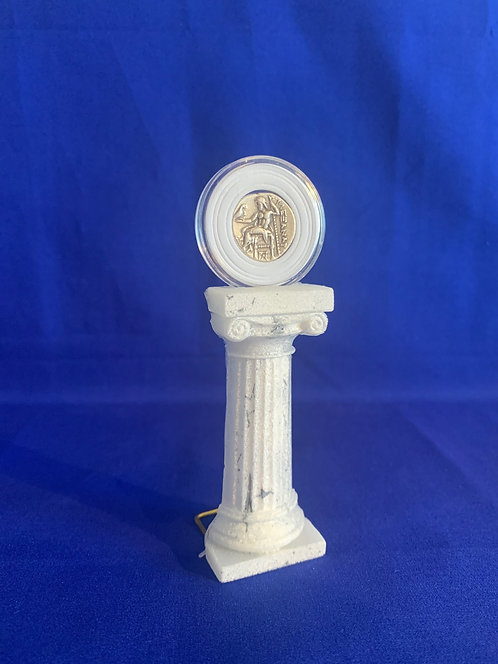 Coin Display Half Column Free Standing Edition