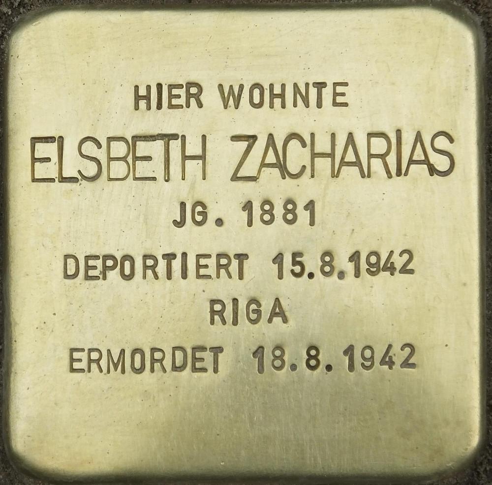 Stolperstein for Elsebeth Zacharias, Pariser 11