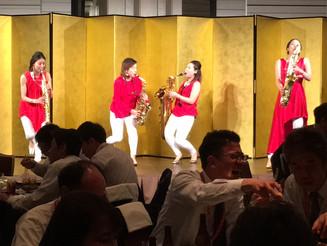 大阪 企業パーティー サキソフォンカルテット