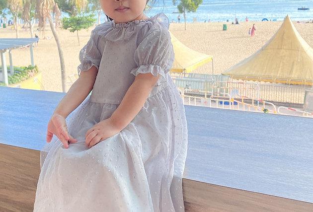 🔺Kids SALE🔻 Oh my love Grey Off shoulder Dress