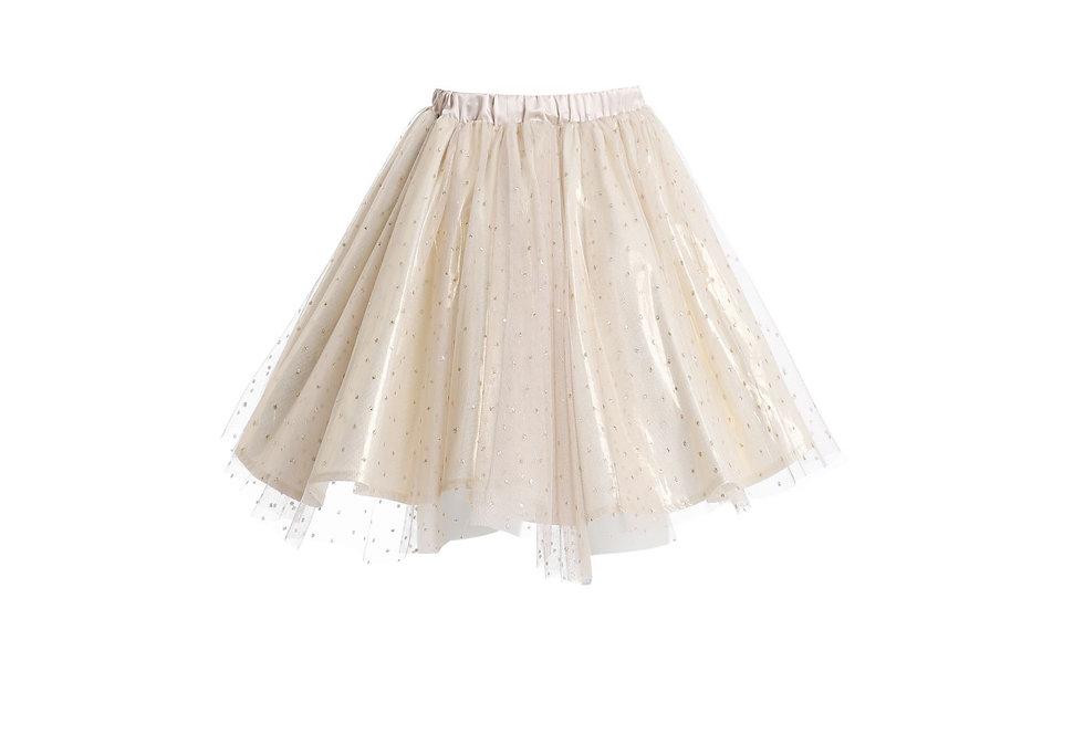 Lalumière系列- 波點網紗半身裙