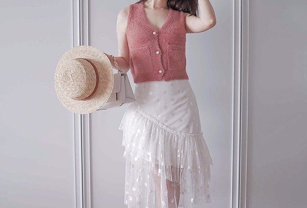 不規則蛋糕裙 Snow Angel White Dress