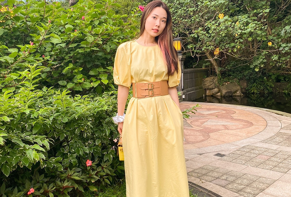 Honey Round-neck Dress