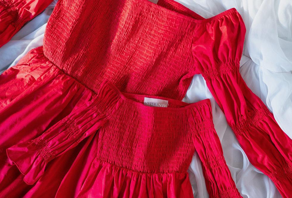 給新娘/孕婦拍寫真的 Red Evening Gown