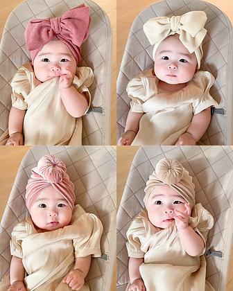 Baby Head Round Bun Wrap