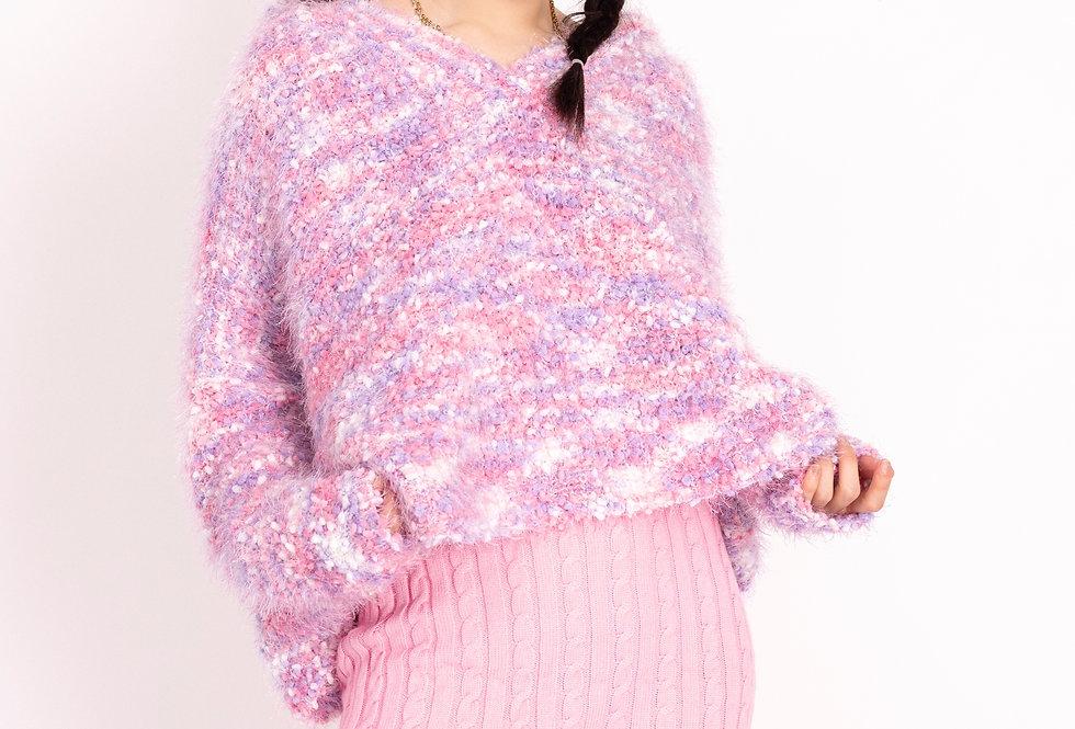 #元氣少女 Cotton Candy Fluff Sweater