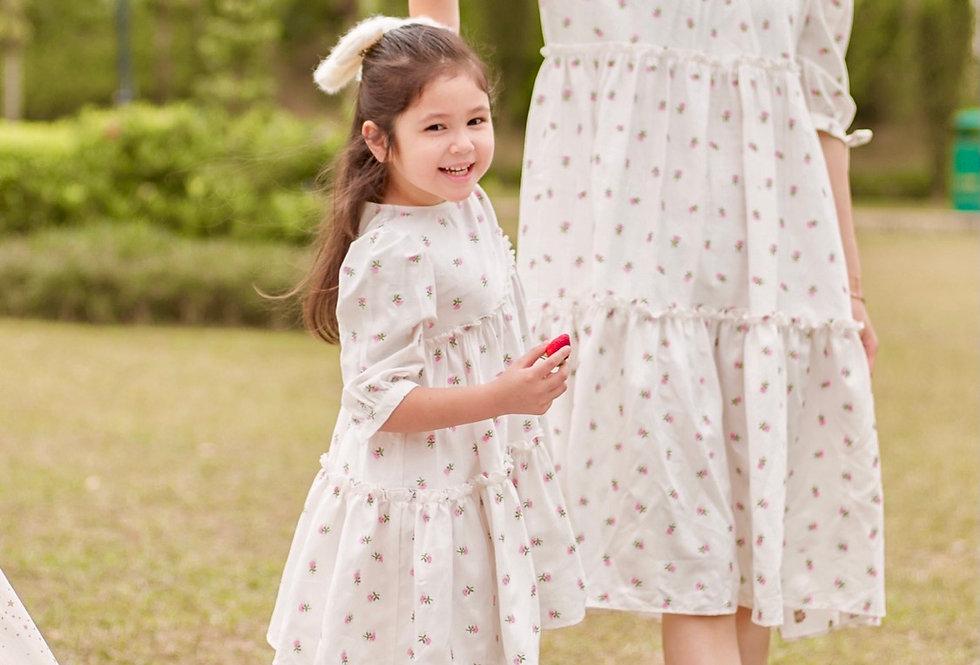 小碎花 Sweetheart Midi Dress