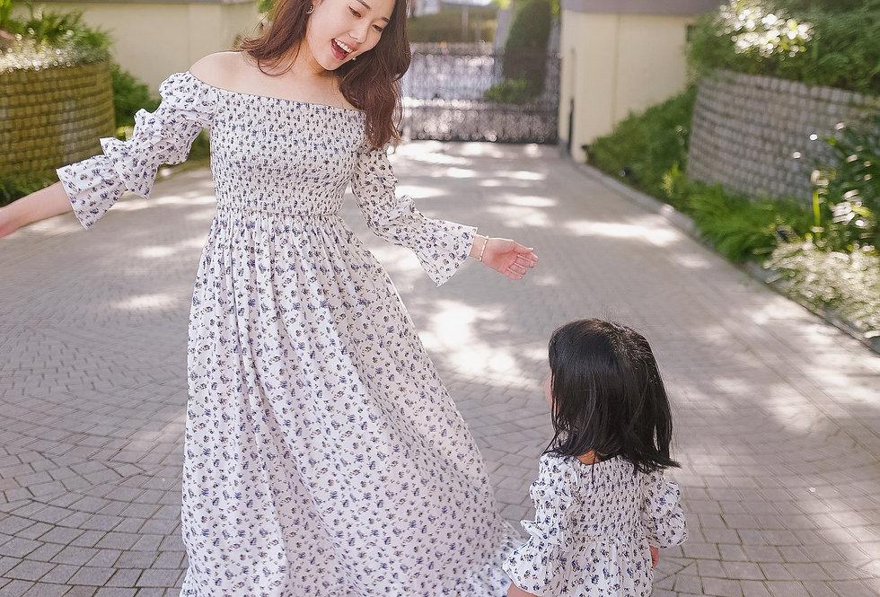 法式春日氣息 Autumn Blueberries Dress