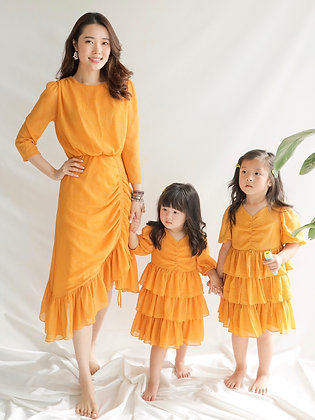 Havana Orange Midi Dress