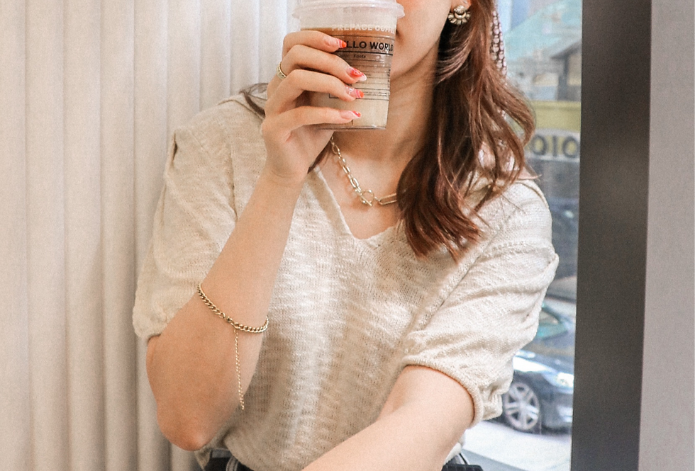Evelyn Collar Knit Top