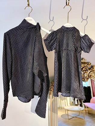 Put your Hands Up in the Air Polka Dot Blouse