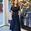 Thumbnail: Navy Square-neck Dress