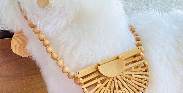 春夏小清新 Mini Slatted Wooden Bag