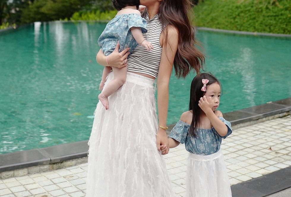 傳說中超好賣的仙女裙 只剩童裝Maxi Skirt