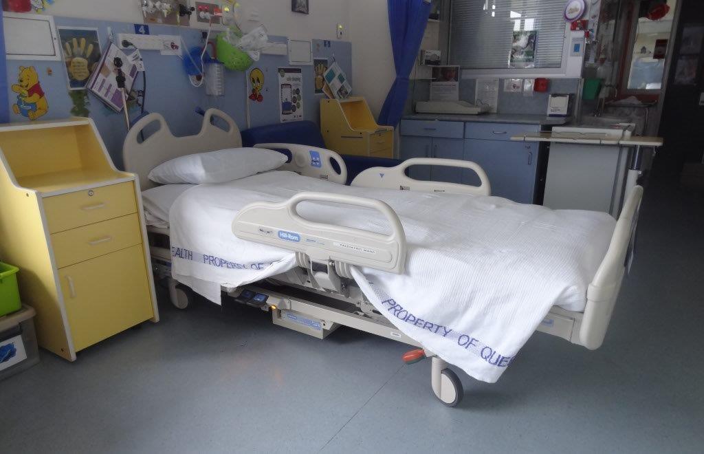 Hospital bed flat