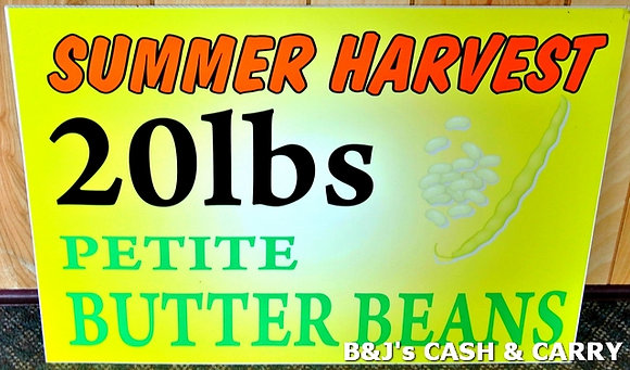 20 LB Boxes of Summer Harvest Butter Beans A