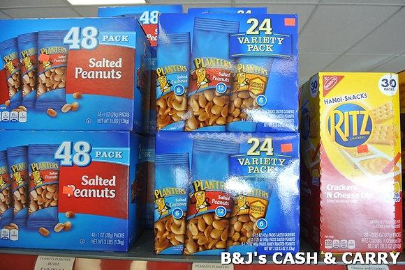 Planter's Peanut & Variety Packs, Ritz Snack Packs