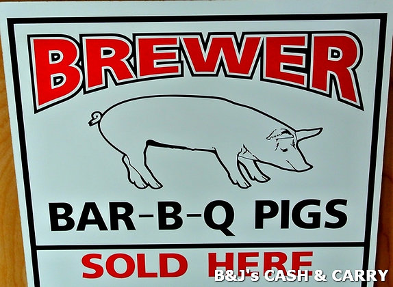 LOCAL GROWN Brewer BBQ Pigs Available