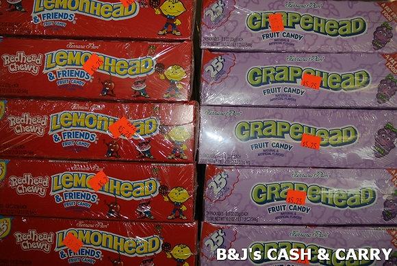 Lemonhead Chewys & Grapehead Candies