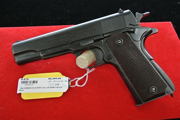 Colt Model 1911 US Army .45 Caliber