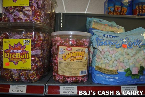 Atomic Fire Balls, Caramel Creams, Mints