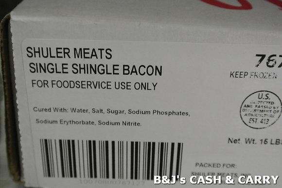 Single Shingle Bacon - 16 LB Box