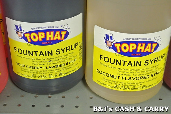 Top Hat Snow Cap Syrup - Many Flavors