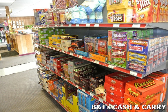 Large Selection of Candies & Snacks