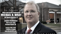 Michael Wray Fundraiser Jan 20th, 2016 Logan's Steakhouse Roanoke Rapids, NC