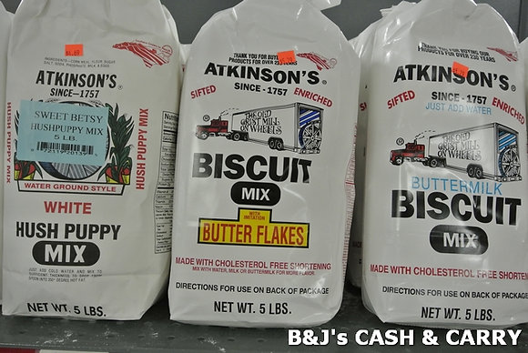 Atkinson's Hush Puppy & Biscuit Mix /Various Sizes