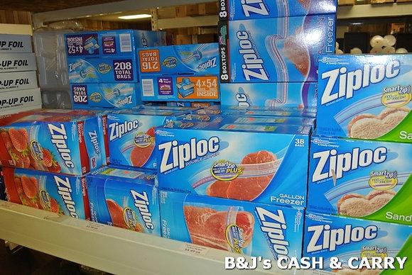 Ziploc Plastic Storage Bags - Several Sizes
