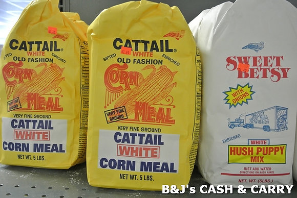 Cattail Corn Meal. Sweet Betsy Hush Puppy Mix
