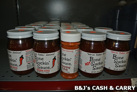 Variety of Bone Suckin' Sauces