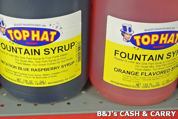 Top Hat Snow Cone Syrup - Many Flavors