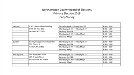 Northampton County Early Voting Locations