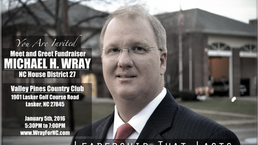 Michael Wray Fundraiser Jan 5th, 2016 Valley Pines Country Club