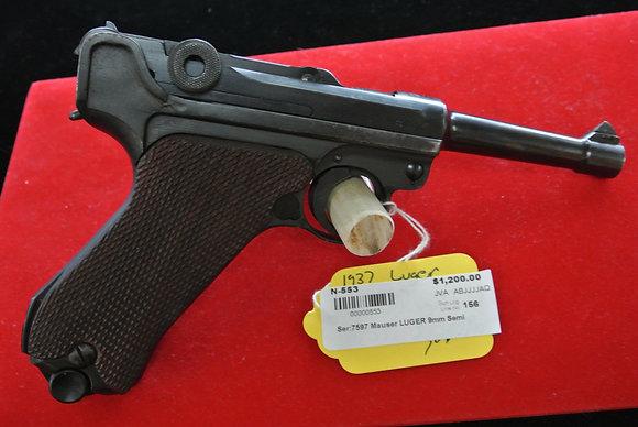 Mauser Luger 9mm Parabellum Semi Auto