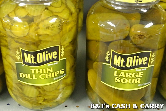 Mount Olive Dill Chips & Sour Pickles - 1 Gal