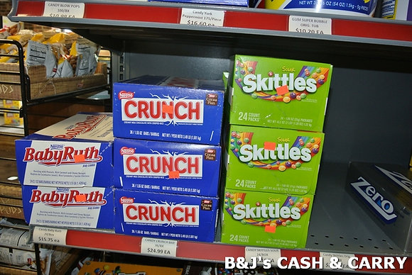Baby Ruth, Crunch & Skittles Candies