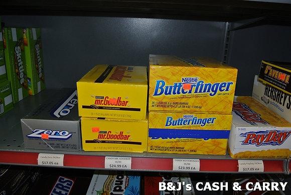 Zero, Mr. GoodBar, Butter Finger, PayDay Bars