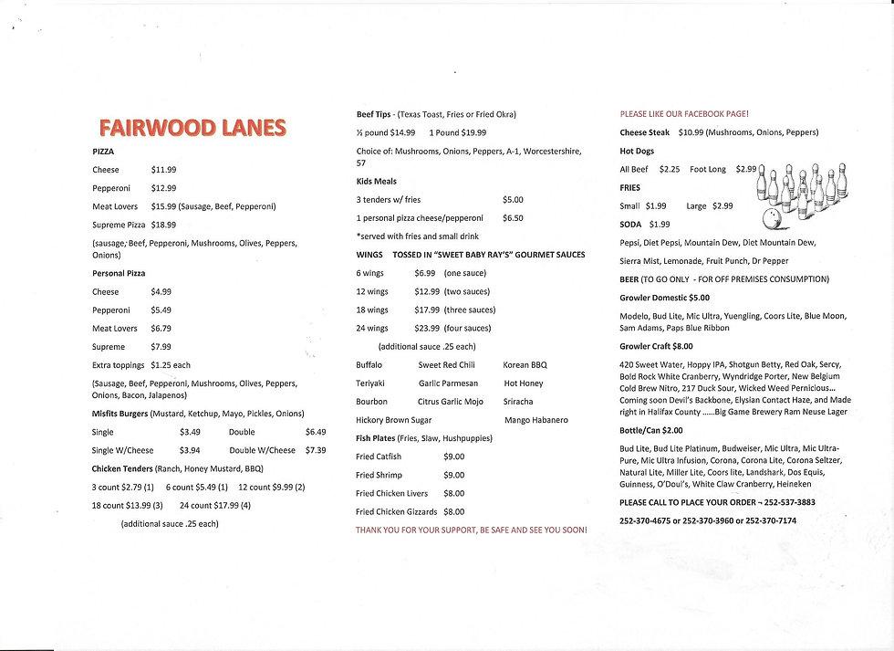 Fairwood Lanes Updated Menu To Go.jpg