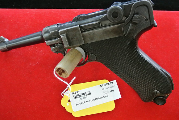 Erfurt Luger 9mm Parabellum Semi Auto